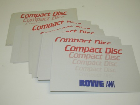 (20) Rowe CD Juke Title Strip Filler Cards (Item #29) $9.99