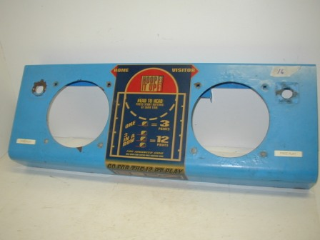 Hoop It Up Control Panel (Item #16) (Paint Is Bubbling) (Rusted Along Top Edge) (Will Need To Be Repainted) $34.99
