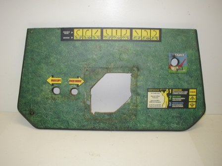 Konami / Dark Adventure Cabinet Control Panel (Item #17) (Cut Out For Trackball) $29.99