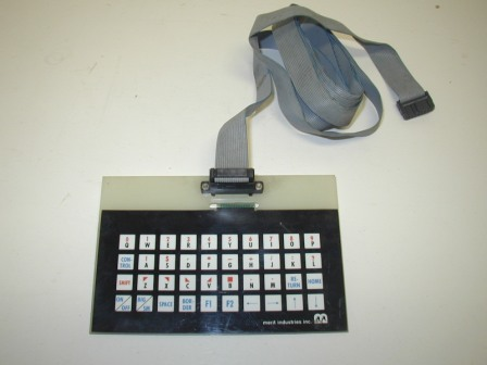 Merit Games Keyboard and Ribbon Cable (Item #6) (5 1/2 Ft Ribbon Cable) (Unknown Game Or Operational Condition / Sold As Is) (Key Board Is 4 In X 6 In) $14.99