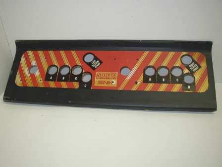 Unknown Game Metal Control Panel (Maybe Gotlieb) (With Neo Geo Layout) (Item #6) $29.99